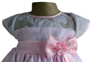 Faye Pink & White lace Kids Party Dress