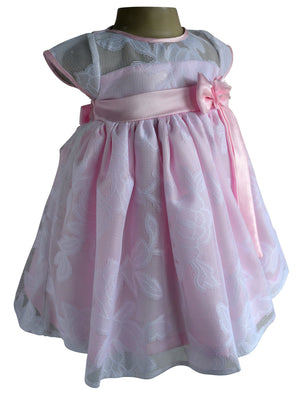 Faye Pink & White lace Dress for Girls
