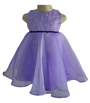 Dress for girls_Faye Purple Tissue Dress