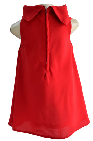 Red Cowl Swing Dress