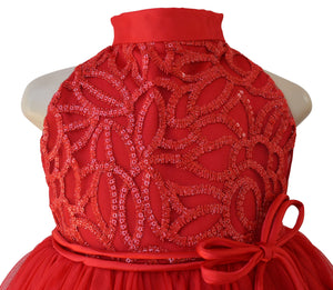 Faye Red Embroidered Gown