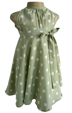 Faye Spotted Crepe Dress for Kids