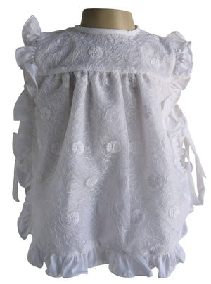 New born dress_Faye White Lace Baby Dress