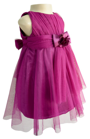 Faye Wine Party Dress for kids