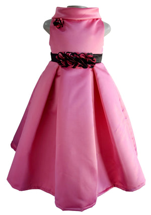 Faye Pleated Onion Pink Party Gown for kids