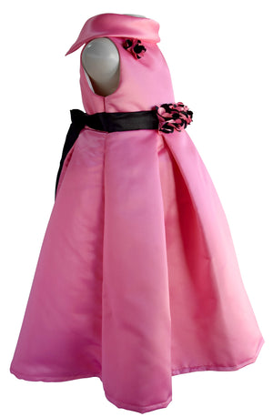Faye Pleated Onion Pink Party Gown for girls