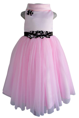 Faye Pink Cowl Neck Gown for Girls