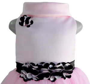 Faye Pink Cowl Neck Gown for Kids