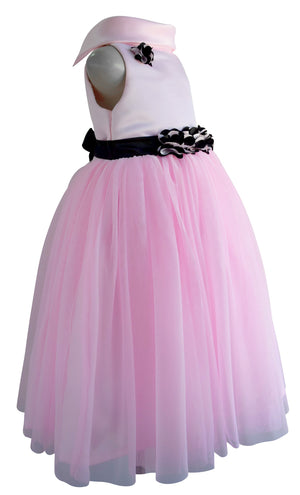 Faye Pink Cowl Neck Gown for baby girls