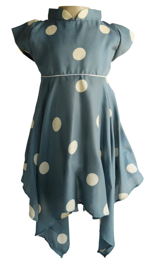 Dotted in Cream Dress for kids