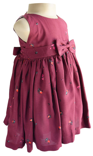 Maroon Floral Dress for kids
