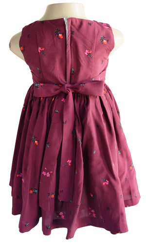 Maroon Floral baby Dress