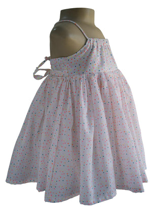 Multi dot Cotton Strappy Dress for kids