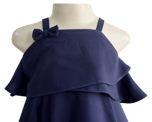 Faye Navy Kerchief Dress