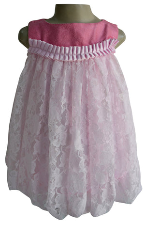 Faye Pink Balloon Dress for Kids
