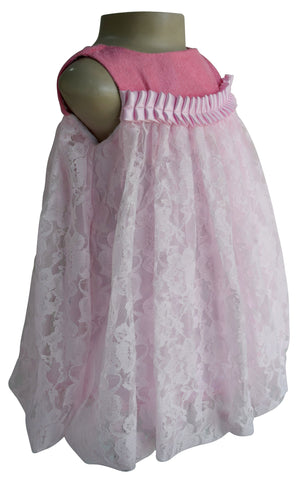 Faye Pink Balloon Baby Dress