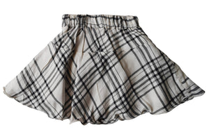 Faye Black & Ivory Kids Skirt with Checks print