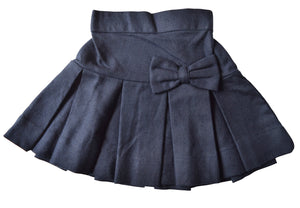 Kids Wear_Faye Blue Pleated Twill Skirt