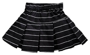 Kids Skirt_Black & White Striped Skirt
