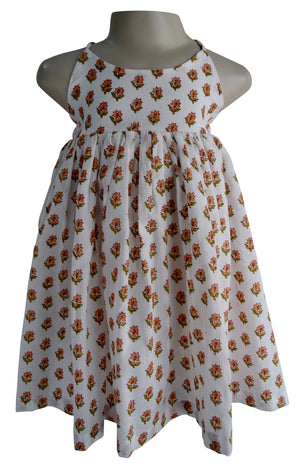 Kids Dress_Faye Strappy Printed Dress