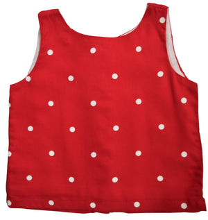 Kids Tops_Red & Ivory Polka Top