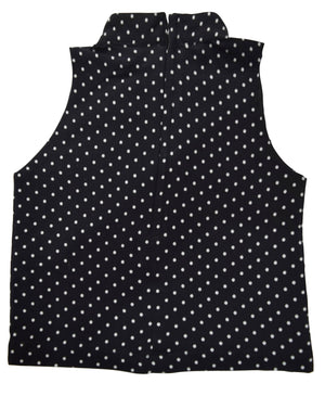 Black & White High Neck Top for Kids