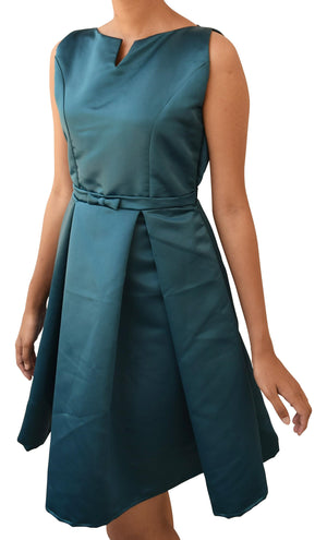 Teal Green Pleated Dress for Teen Girls