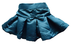 Teal Satin Skirt for Kids