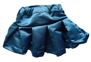 Teal Satin Skirt for Girls