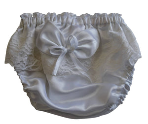 New born bloomers_White Satin Bloomers