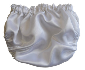 Faye White Satin Bloomers