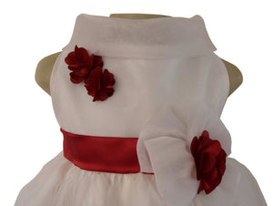 Kids Party Dress_Faye Ivory Cowl Neck Dress