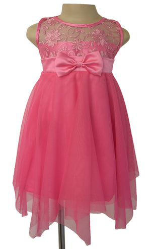 Faye Blush Pink Kids Party Dress