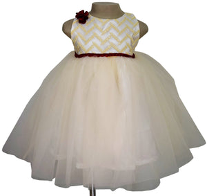 Faye Beige & Ivory Princess Dress
