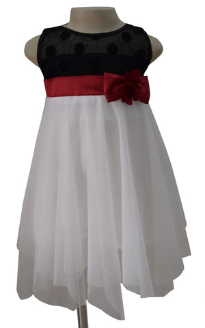 Faye Black & Ivory Handkerchief Dress