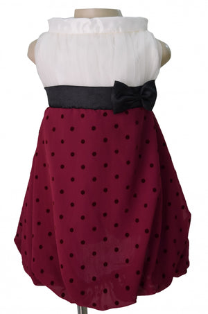Baby Dress_Faye Plum Polka Highneck Dress