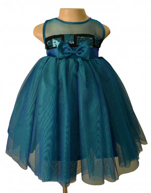 Faye Two Tone Sequence Kids Party Dress