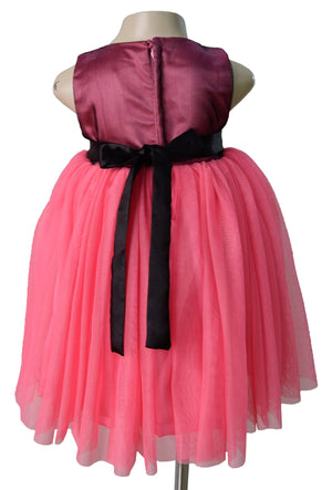 Faye Black & Onion Pink Kids Party Dress