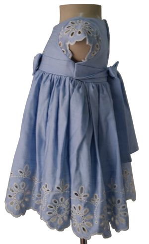 Kids Wear_Faye Blue Scalloped Dress