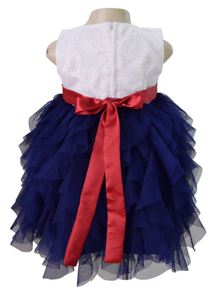 Kids Party Dress_Faye Blue Waterfall Party Dress