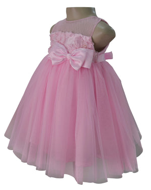 Kids Dress_Faye Pink Ribbon Work Dress