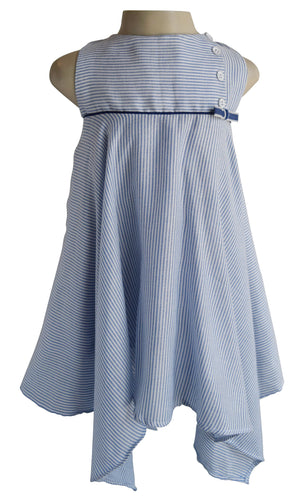 Baby Girl Dress_Faye Blue Striped Dress