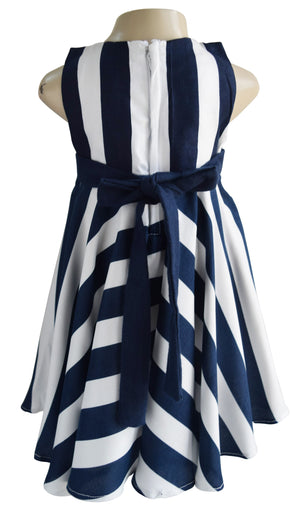 Dress for kids_Faye Navy Stripes Dress