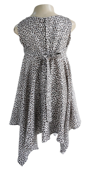 Faye Leopard Print Baby Girl Dress