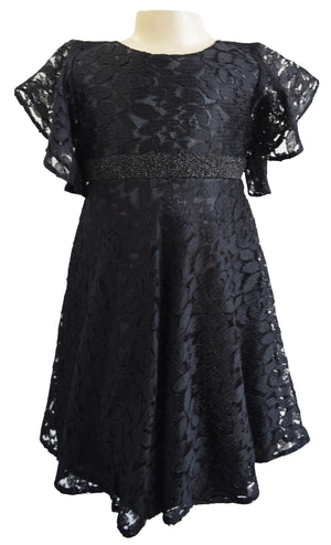 Faye Black Lace Party Dress