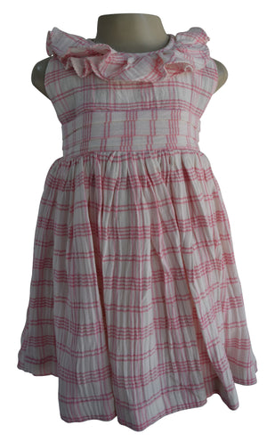 Baby Dresses_Faye Print Checks Ruffle Dress