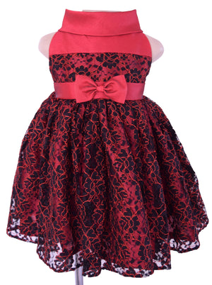 Faye B & Red Lace Ceremonial Dress