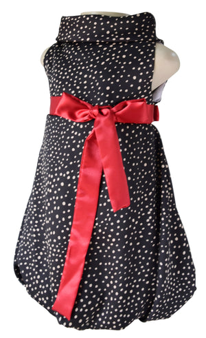Kids Wear_Faye Spotted Cowl Neck Dress