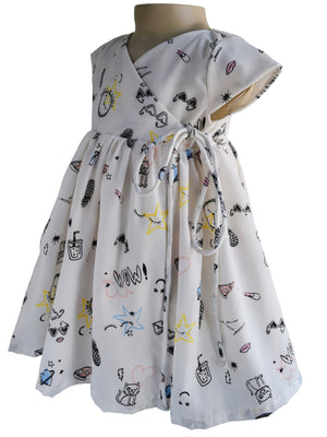 Faye Cartoon Print Dress
