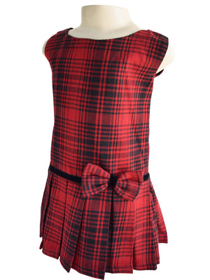 Faye Drop-waist Tartan Dress
